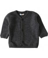 Graue Fleece-Cardigan aus Wolle