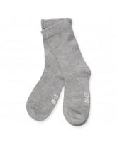 Graumelierte Socken aus Bambus