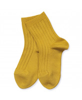 Ripp Socken in Curry