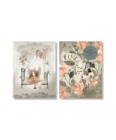 2er-Pack Karten Hooray Roses
