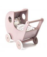 Puppe-Kinderwagen in Puder