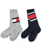 2er-Pack Socken in Grau