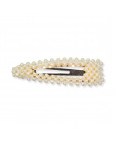 Haarspange mit Perlen - 9 cm