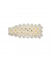 Haarspange mit Perlen - 7 cm
