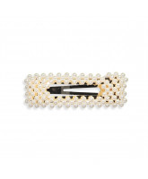 Haarspange mit Perlen - 8 cm