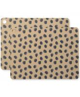 2er-Pack Platzdeckchen Leopard