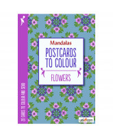 Postkarten zum Ausmalen - Blumen