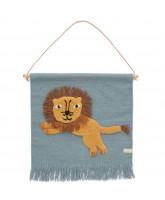 Wand-teppich Jumping Löwe