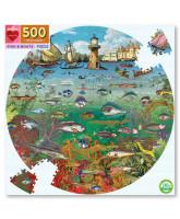 Puzzle 500 Teile - Fisch und Boote