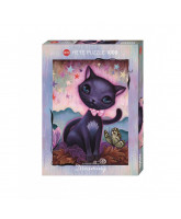 Puzzle Black Kitty - 1000 Teile