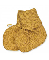 Babysocken aus Wolle in Mustard