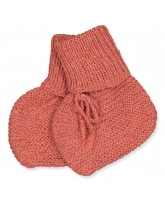 Babysocken aus Wolle in Terracotta