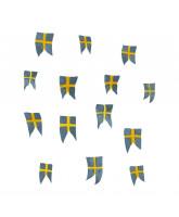 Wandaufkleber - Schwedische Flage 14 Stk.