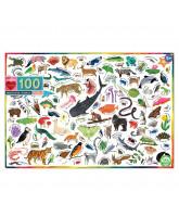 Puzzle 100 Teile - Tiere in der Welt
