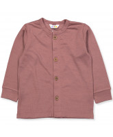 Cardigan aus Wolle in Rosa