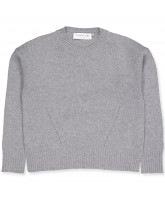 Pullover mit Wolle in Grau