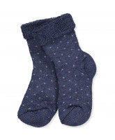 Socken mit Wolle in Dark Denim