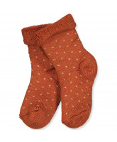Socken mit Wolle in Bombay Brown