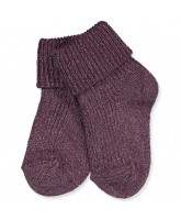 Socken mit Glitzer in Brown