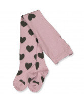 Strumpfhose mit Wolle in Wood Rose