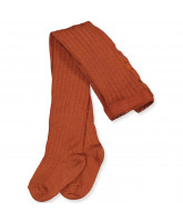 Strumpfhose mit Wolle in Bombay Brown