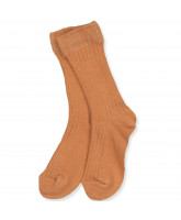 Ripp-Socken in Amber Brown