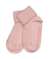 Stoppersocken mit Wolle in Rosa