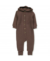 Fleece-Overall aus Wolle in Puce brown