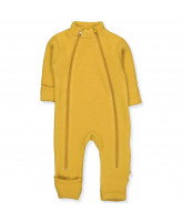 Fleece-Overall aus Wolle in Gelb