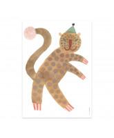 Wanddekoration Leopard Elvis